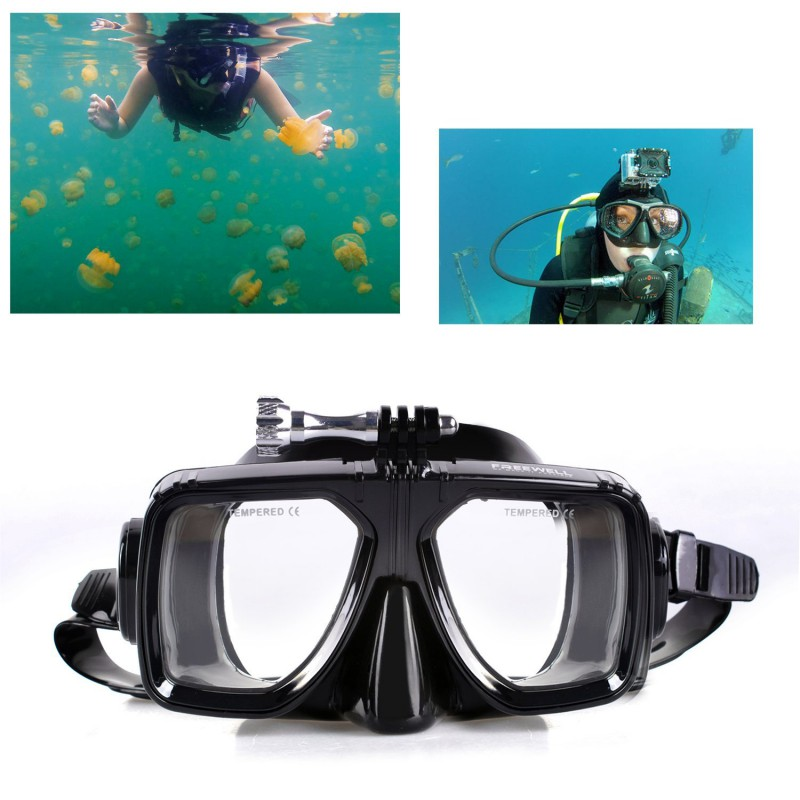 Iberdron Máscara de Buceo para GoPro y Action Cam