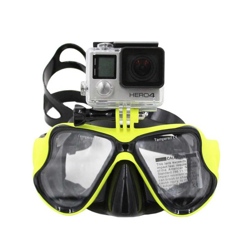 Iberdron Máscara Buceo para GoPro con funda