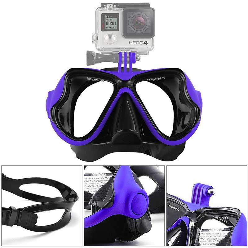 Iberdron Máscara buceo con Snorkel para GoPro