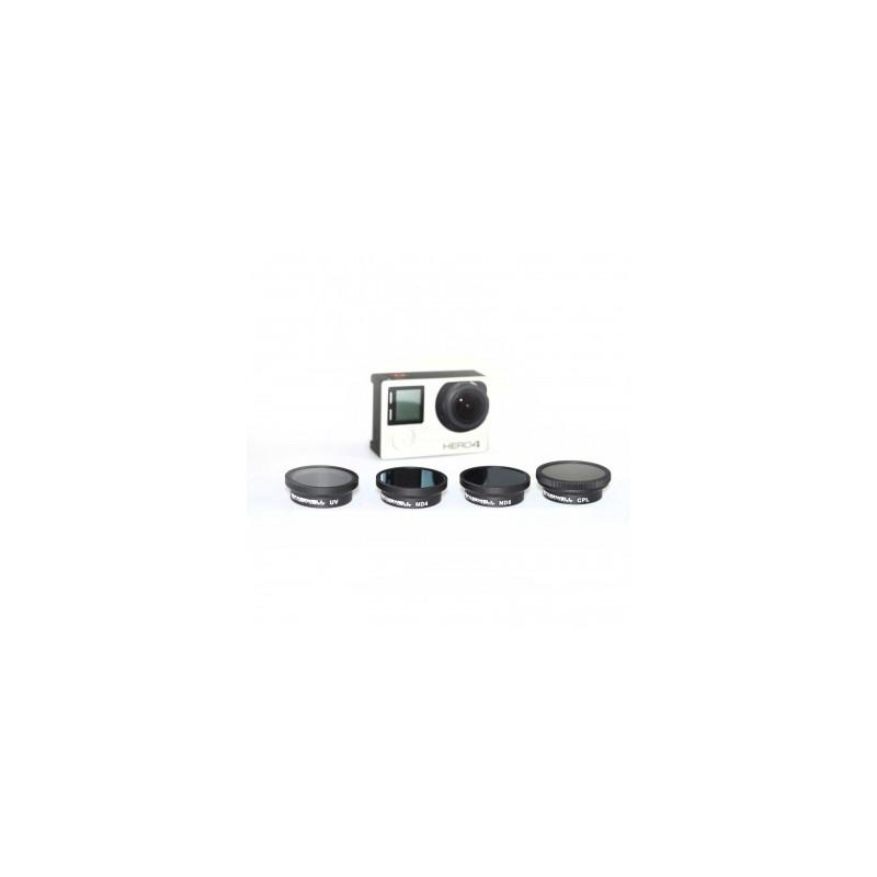 Iberdron Pack 4 filtros Freewell para GoPro 3/3+/4