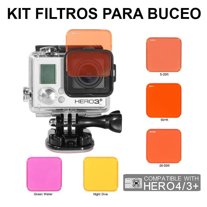 Iberdron Pack Filtros GoPro para Buceo